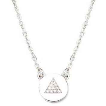 Cubic Zirconia Triangle Charm Necklace