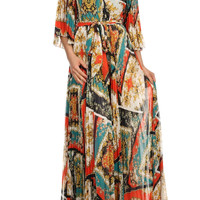 Maxi Printed Full Length Dress D4868-6702