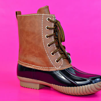 Duck Duck Boots - Brown/Black