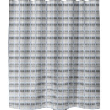 TILED BLUE Shower Curtain By Tiffany Wong