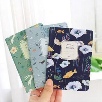 ICIK272 Cute Mini Vintage Flower Notebook Lovely Animal Notepads With Lined Paper For Kids Gifts Korean Stationery Free Shipping 005