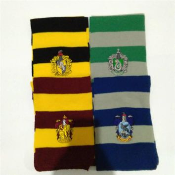 Cosplay Harri Scarf Scarves Gryffindor,Slytherin,Hufflepuff,Ravenclaw potter Scarf Scarves Costumes party Gift for kids