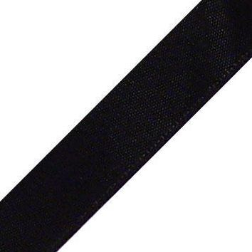 "Double Faced Satin Ribbon in Black - 1.5"" Wide x 25 yd"