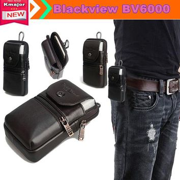 DCCKHY9 Genuine Leather Carry Belt Clip Pouch Waist Purse Case Cover for Blackview BV6000 BV6000S 4.7inch Phone Free Drop Shipping