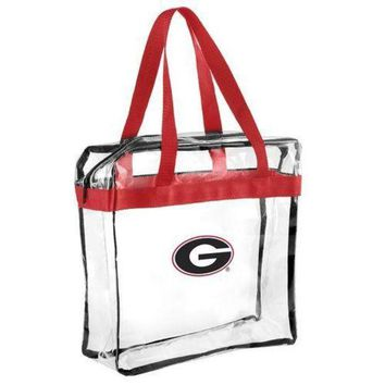 DCCKG8Q NCAA Georgia Bulldogs Forever Collectibles Clear Hand Tote Bag