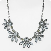 Junior Women's BP. Crystal Fan Statement Necklace