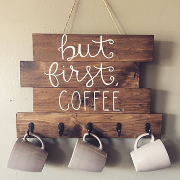 Best But First Coffee Sign Products on Wanelo