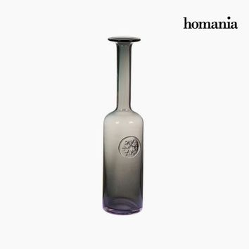 Vase Crystal Grey (10 x 11 x 42,5 cm) by Homania
