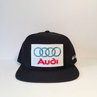 Audi black custom snapback hat