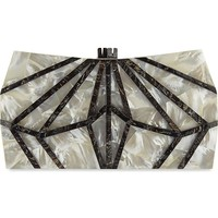 NATHALIE TRAD - Xestia Mother of Pearl box clutch | Selfridges.com