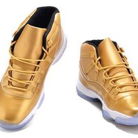 Cheap Air Jordan 11 Original Pure Gold Shoes Hot Sale