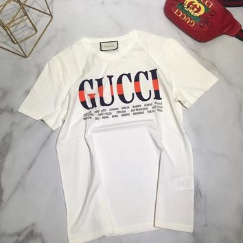 Gucci Women Short Sleeve Print Shirt Top Tee