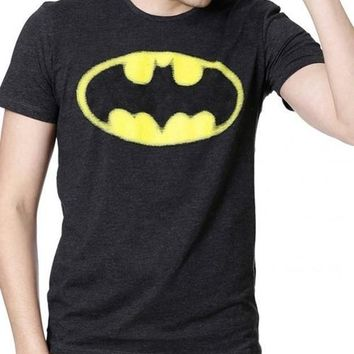 Batman Knight Time Grey Half Sleeves Men T-Shirts
