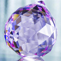 Lilac Faceted Crystal Ball 40mm | Item #B996