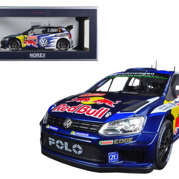 """Volkswagen Polo R WRC #2 """"Red Bull"""" Rally Monte Carlo 2015 Latvala-Anttila 1-18 Diecast Model Car by Norev"""