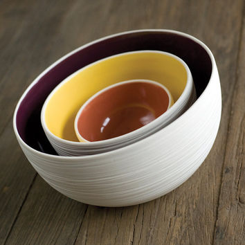Scribble Nesting Bowls S/3