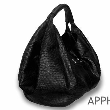 Best Black Leather Hobo Handbags Products on Wanelo