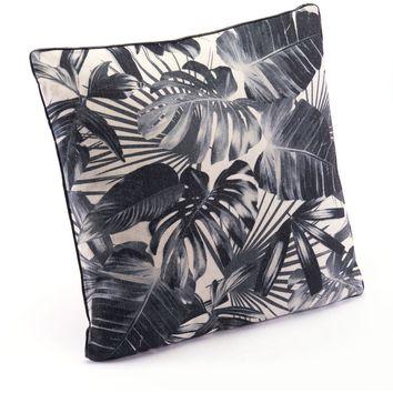 Black & Beige Black Jungle Pillow