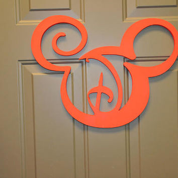 Disney Sign, Disney Monogram, Wooden Mickey Ears. Monogrammed Mickey Ears, Monogram Disney Sign, Disney Letters, Disney Decor, Wooden Disney