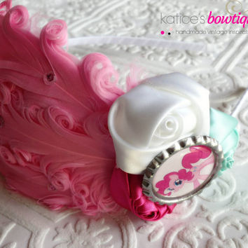 In Support of Michael Morones: The Pinkie Pie My Little Pony Pink Feather Flapper Girl Headband