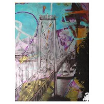 Moe's Home Collection Bay Bridge Wall Art in Blue