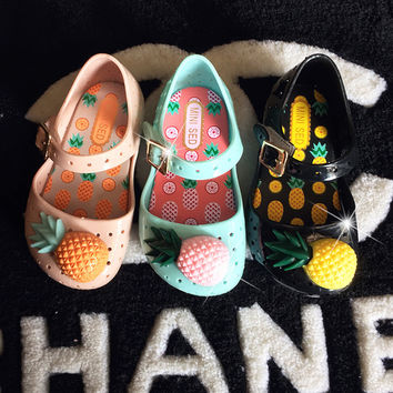 Fruits Pineapple Summer Children Shoes [6420302852]