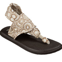 Sanuk Yoga Sling 2 Prints Natural Multi Radio Love Sandals