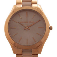 MK4294 Slim Runway Blush Acetate and Rose Gold-Tone Stainless Steel Watch by Michael Kors (Women)