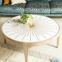Brass Starburst Round Coffee Table