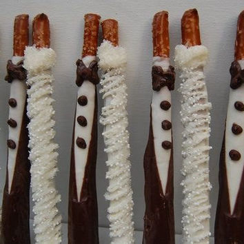 Bride and Groom Chocolate Covered Pretzel, Wedding Favors, Bridal Shower, Party Favors, Pretzel Rods, Bachelorette Party, Chocolate, Love