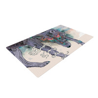 "Mat Miller ""Journeying Spirit"" Wolf Woven Area Rug"