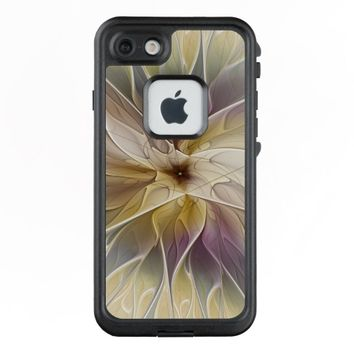 Floral Fantasy Gold Aubergine Abstract Fractal Art LifeProof® FRĒ® iPhone 7 Case