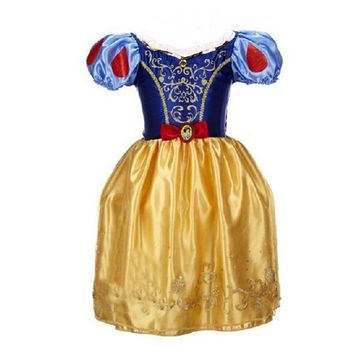 2017 Summer Dress Girl Children Clothes Cosplay Costume Girl Party Wedding Princess Kids Dress Belle Dress Little Maven Rapunzel