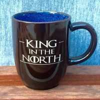 Colorful Coffee Mug with Game of Thrones Quotes, Deep Etched
