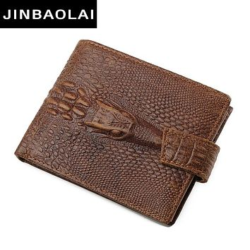 Fashion Genuine Leather Men Wallets Bi Fold Wallet ID Card Holder Coin Purse Pocket Male Credit Id Card Wallets