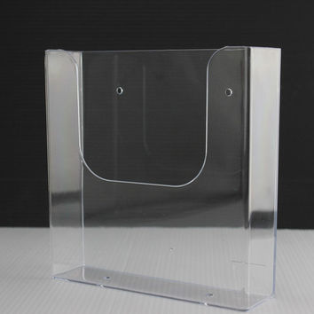 Clear A5 wall-amount literature holder Acrylic File brochure leaflet holder collection wall papers frame rack