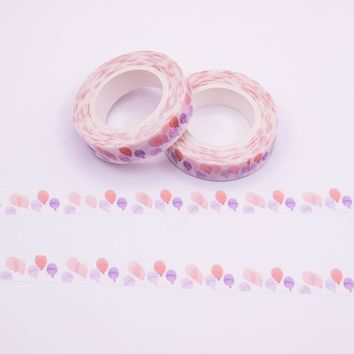 Mixed Color Japanese Washi Tape Set of Pastel Balloon Pattern Decorative Adhesive Tape Masking Paper Tapes 1PCS/lot