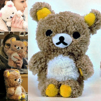 New 3D Cute Teddy Bear Cool Plush Toy Doll Cover Case For Apple Mobile Phone