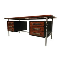 Pre-owned Mid-Century Floating Rosewood & Chrome Desk