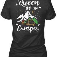 Queen Of The Camper Funny Camping Shirts