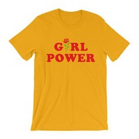 Yellow & Black Girl Power Tee