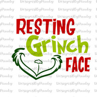 Resting Grinch Face SVG Christmas Circle monogram. Vectors cuttable files Christmas svg png jpeg download Christmas