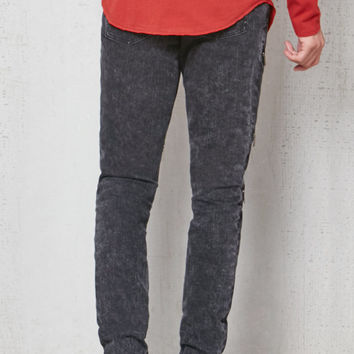 PacSun Stacked Skinny Zipper Stretch Jeans at PacSun.com