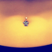 Starfish Belly Button Jewelry Belly Ring by MidnightsMojo on Etsy