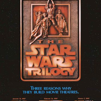 Star Wars Trilogy Special Edition 1997 Movie Poster 24x36