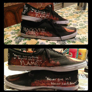 Black Veil Brides Shoes by RisingRedFox on Etsy