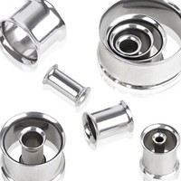 "316L Surgical Steel Double Flared Tunnel Plug Up to 2"" by Every Body Jewelry"