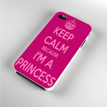 Keep calm and be a princess iPhone 4s Case