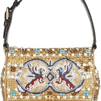 Dolce & Gabbana | Dolce medium ayers-trimmed embellished shoulder bag | NET-A-PORTER.COM