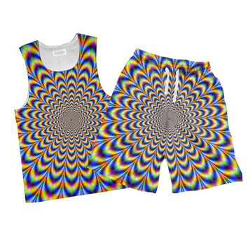 Fractal Pulse Combo Tank Top and Men's Shorts